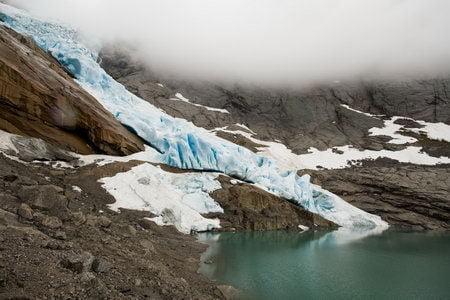 glaciar bridskal retroceso cambio climatico