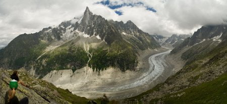 panoramica alpes montblanc mer de glace