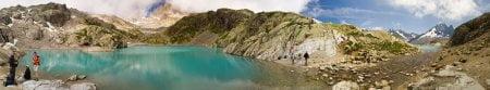 panoramica alpes lago blanco lac blanc