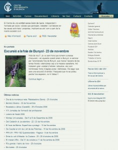 Captura web del CEV